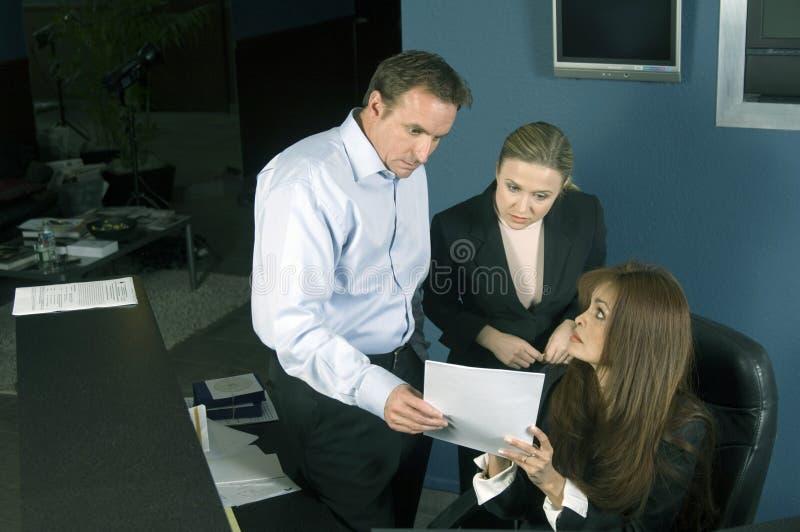 Team briefing stock photos