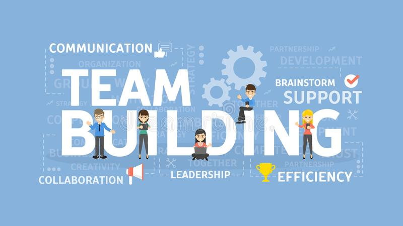 Team building concept illustration. stock illustration