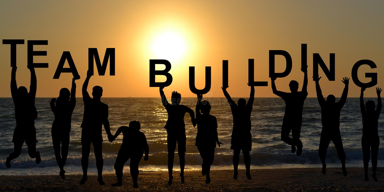 Team building concept royalty free stock photography