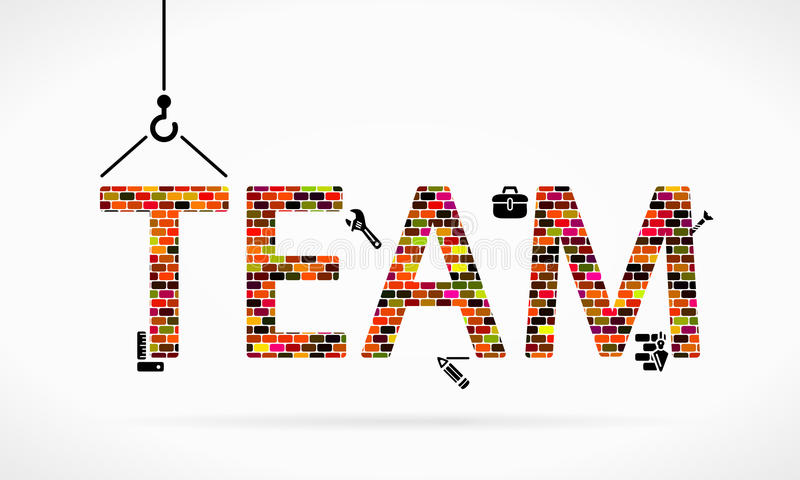 Team building royalty free illustration