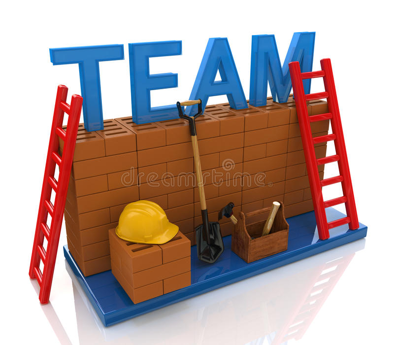 Team building royalty free stock photo