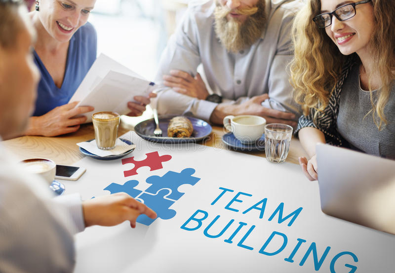 Team Building Group Work Concept fotos de stock royalty free