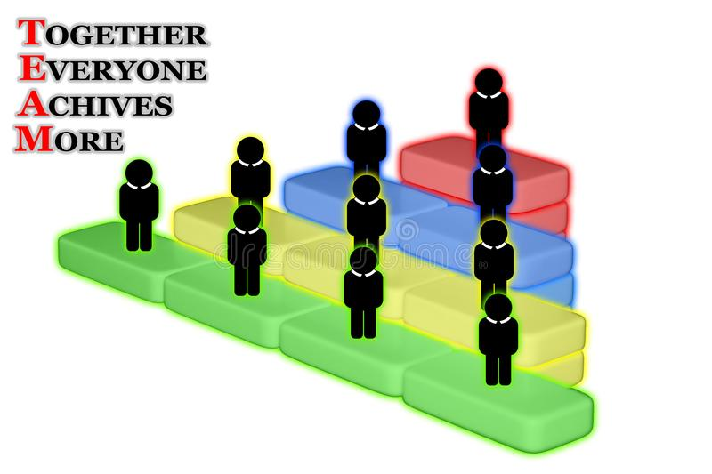 Team Building Group Work Concept. Together everyone achives more. stock photo
