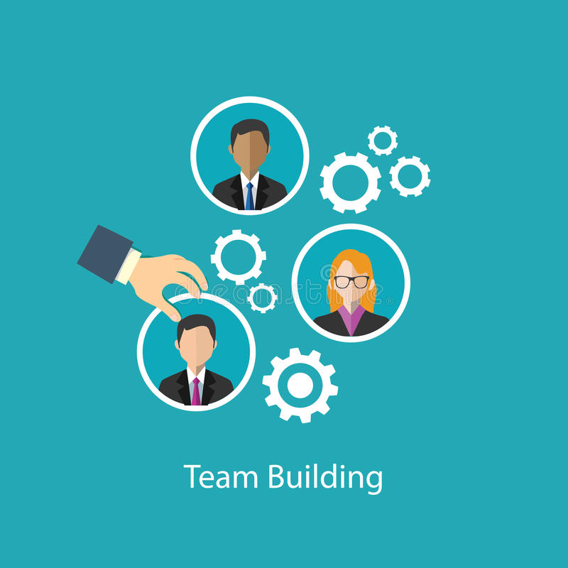 Team building human resource vector illustration