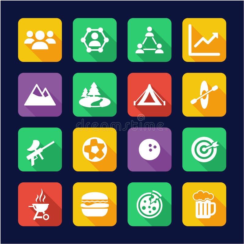Team Building Icons Flat Design illustration de vecteur