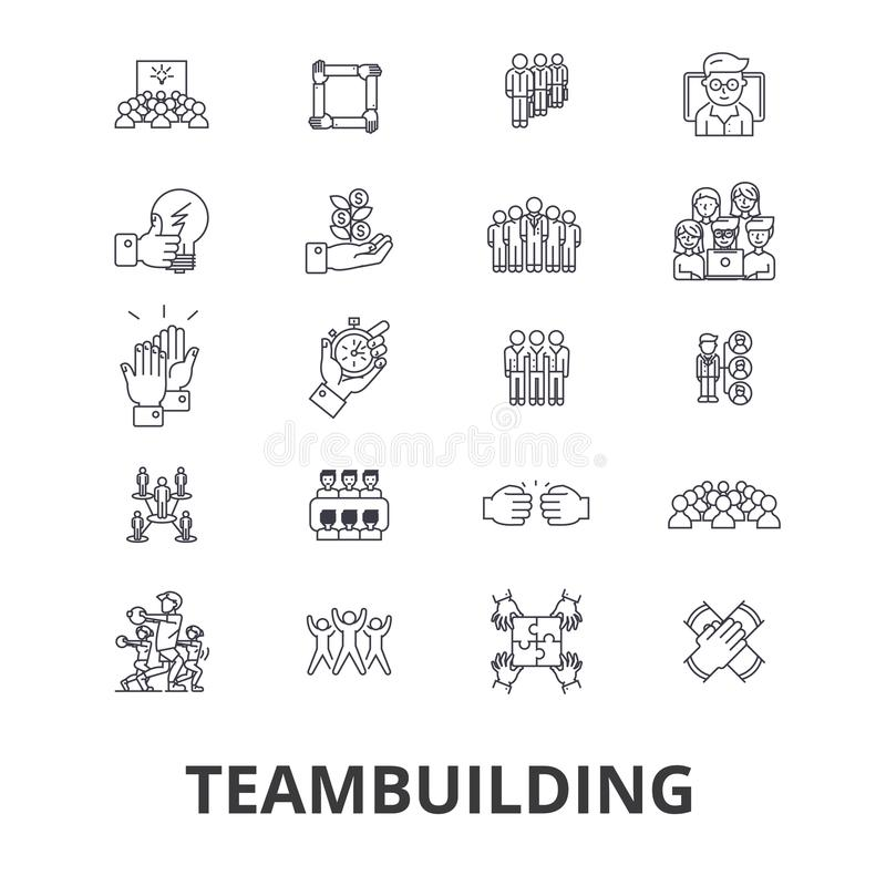 Team building related icons royalty free illustration