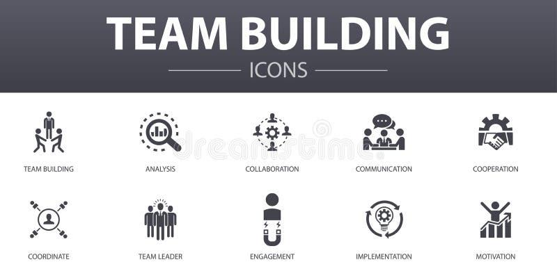 Team Building simple concept icons set vektor abbildung