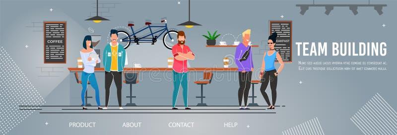 Team Building und menschliche Management-Landungs-Seite stock abbildung