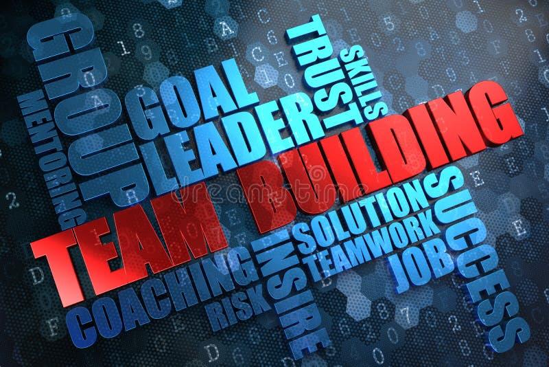 Team Building. Wordcloud begrepp. royaltyfri illustrationer