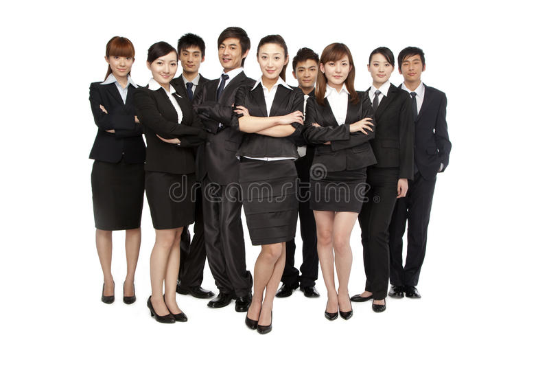 A team of business people stock photography