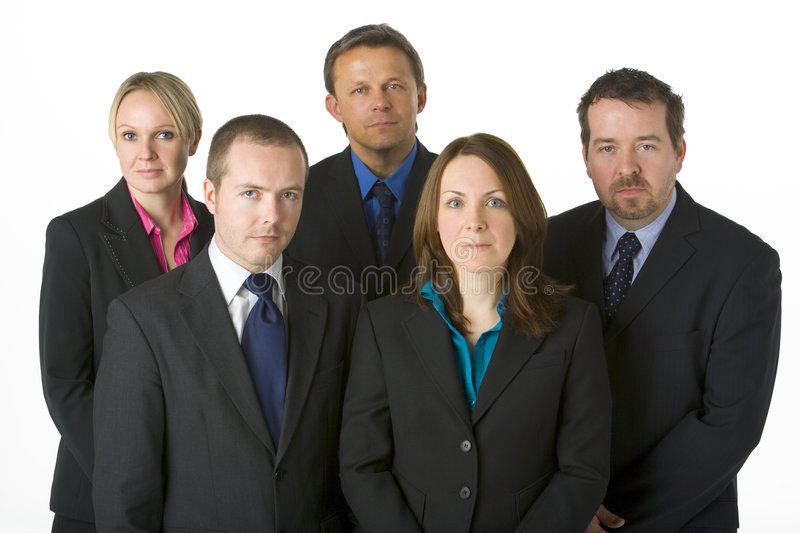 Download Team Of Business People stock image. Image of color, five - 6879453
