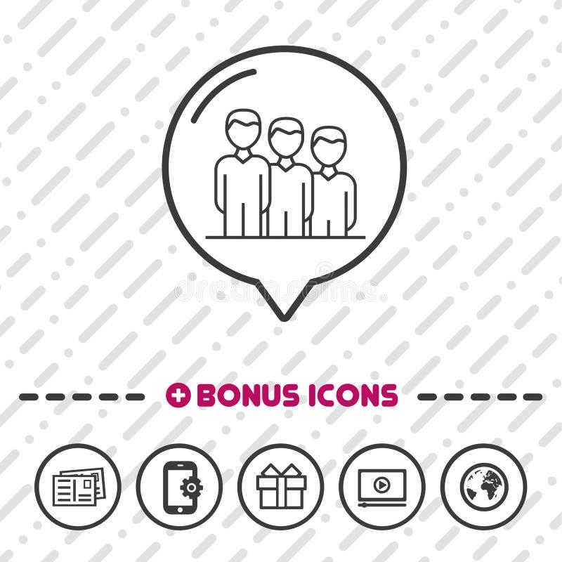 Team Business People-de Bonuspictogrammen van de pictogram dunne lijn Eps10 Vector stock illustratie