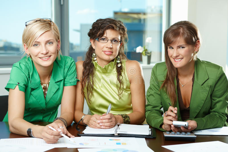 Download Team of businesswomen stock photo. Image of caucasian - 10095780