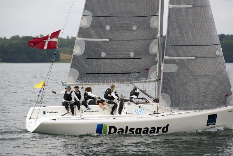 Team Camilla Ulrikkeholm imagen de archivo libre de regalías