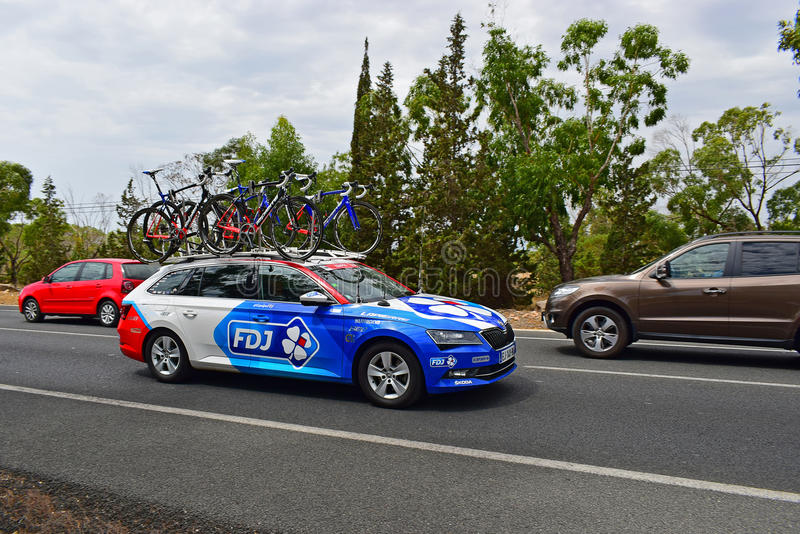 FDJ Team Car La Vuelta España stock images