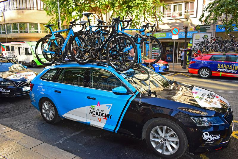 ICA Israel Cycling Academy Team Car royalty free stock photo
