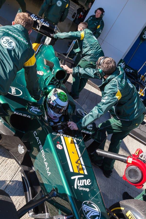 Download Team Catherham F1, Heikki Kovalainen, 2012 Editorial Photography - Image: 23856117