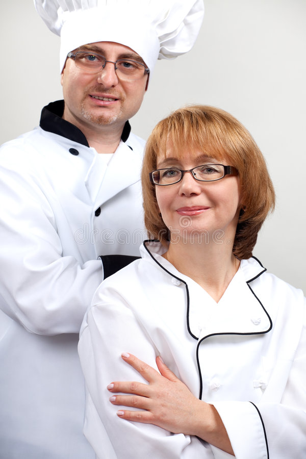 Team of chefs royalty free stock photos