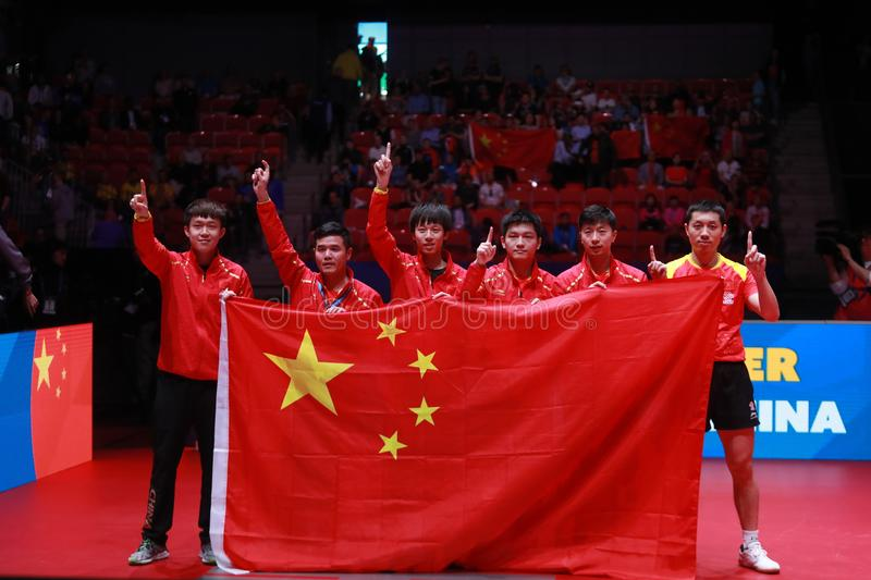 Team China winner of the world championships royalty free stock images