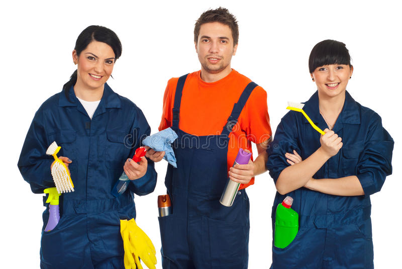 Download Team of cleaning workers stock photo. Image of male, people - 19108024
