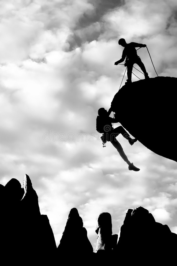 Download Team Of Climbers Reaching The Summit. Royalty Free Stock Photo - Image: 7501015