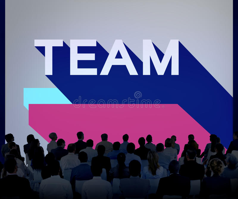 Team Collaboration Company Connection Unity Concept royalty free stock images
