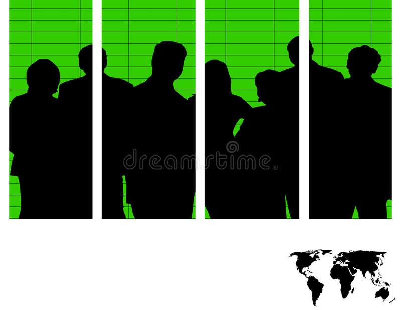 Team of Colors stock illustration