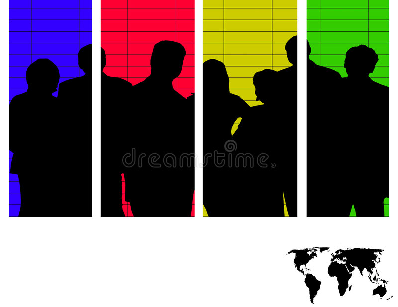 Team of Colors royalty free illustration