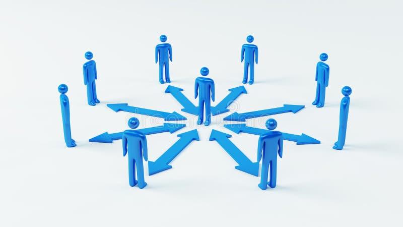 Team Communication vektor illustrationer