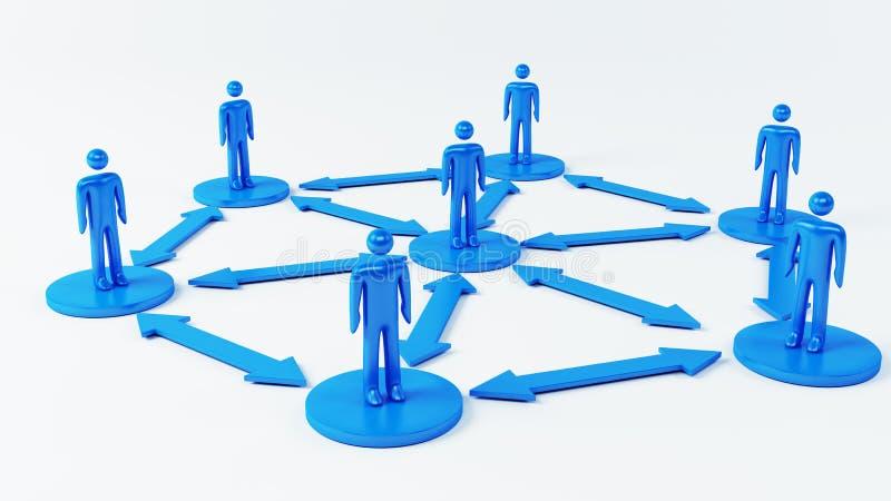Team Communication lizenzfreie abbildung