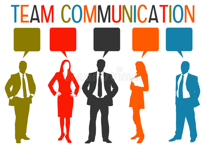 Team Communication royaltyfri illustrationer