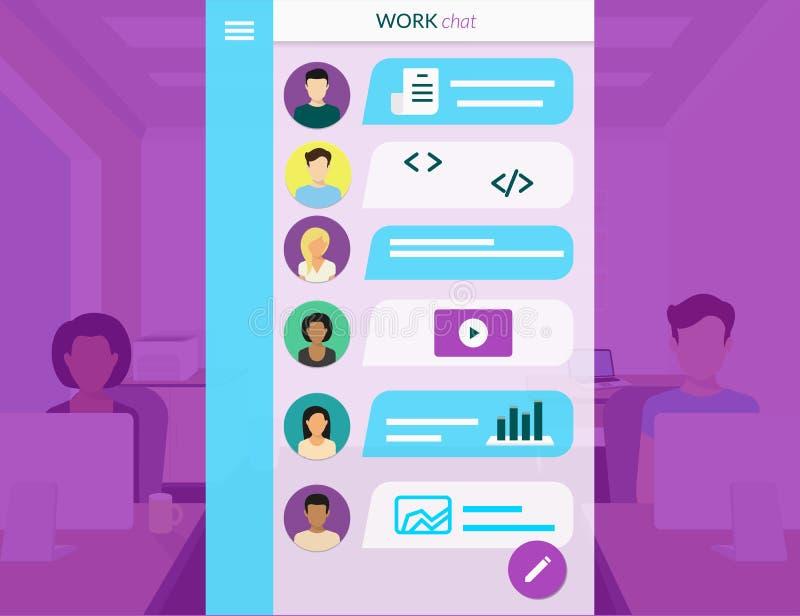 Team Communication royalty-vrije illustratie
