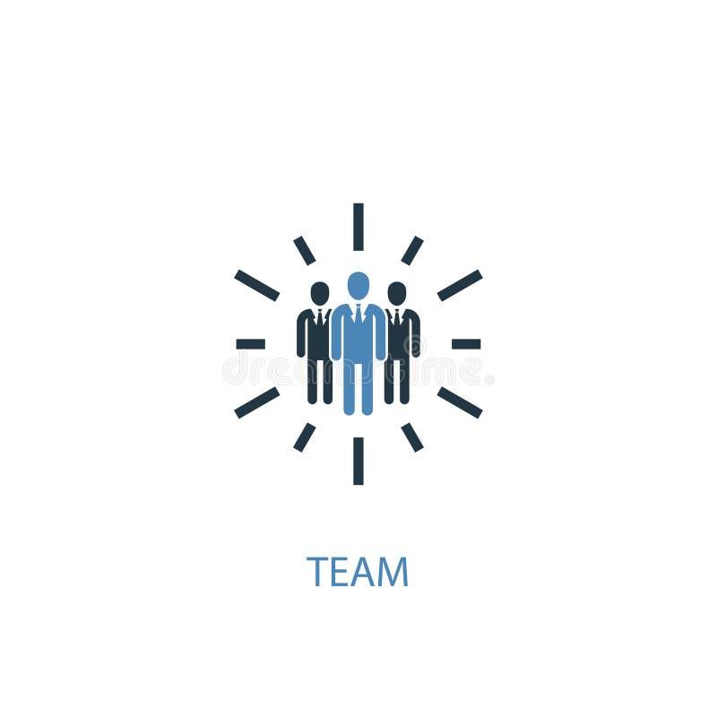 Team concept 2 colored icon. Simple. Blue element illustration. team concept symbol design. Can be vector illustration