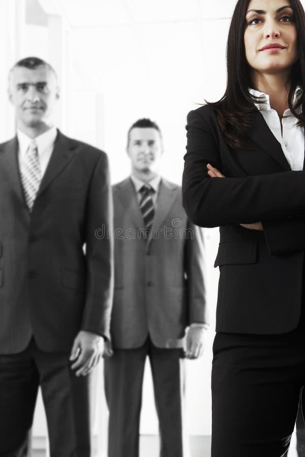 Team Of Confident Business People royaltyfri bild