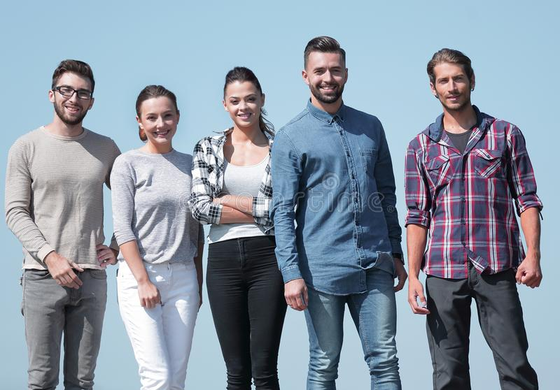 Team of confident young people royalty free stock photo