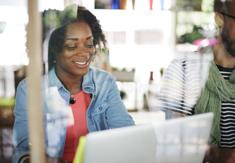 Team Corporate Planning Communication Internet begrepp royaltyfria foton