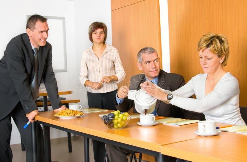 Team in de Zaal van de Conferentie stock afbeelding