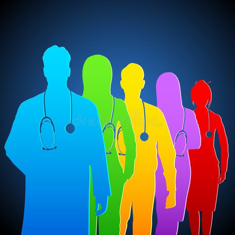 Team der Doktoren stock abbildung