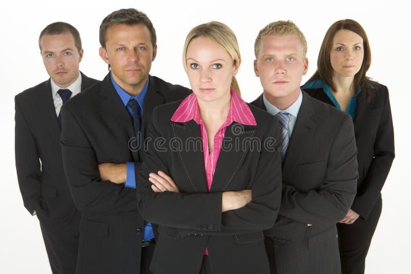 Team der entschlossenen Geschäftsleute lizenzfreie stockfotografie