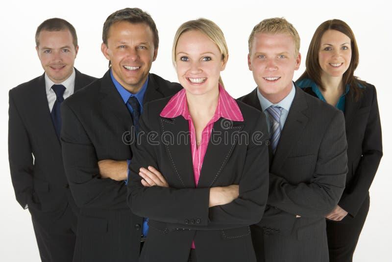 Team der freundlichen Geschäftsleute lizenzfreie stockfotos