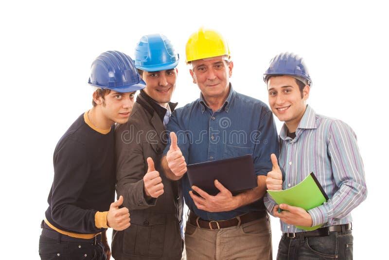 Team der Ingenieure lizenzfreie stockfotografie