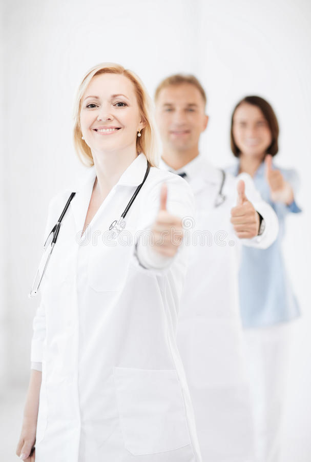 Download Team Of Doctors Showing Thumbs Up Stock Photo - Image: 39636742