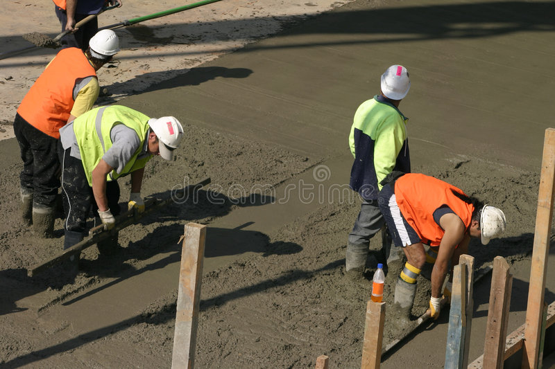 Team Effort - Commercial Cementing stock photo