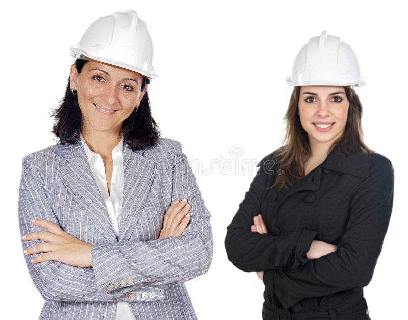Team of engineers stock photo