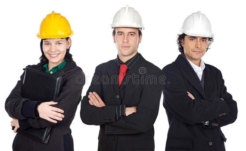 Team of engineers royalty free stock photos