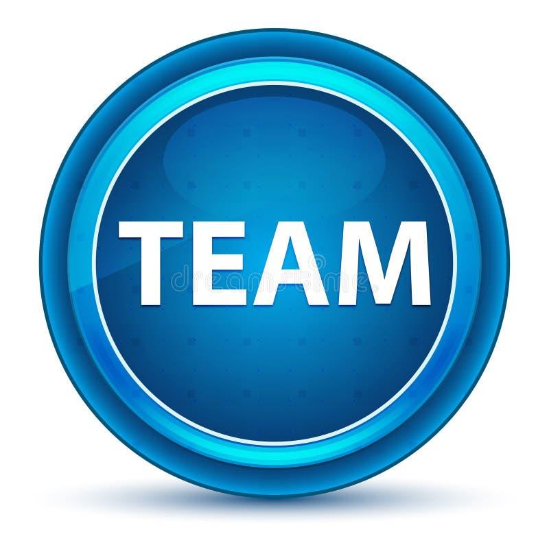 Team Eyeball Blue Round Button stock de ilustración