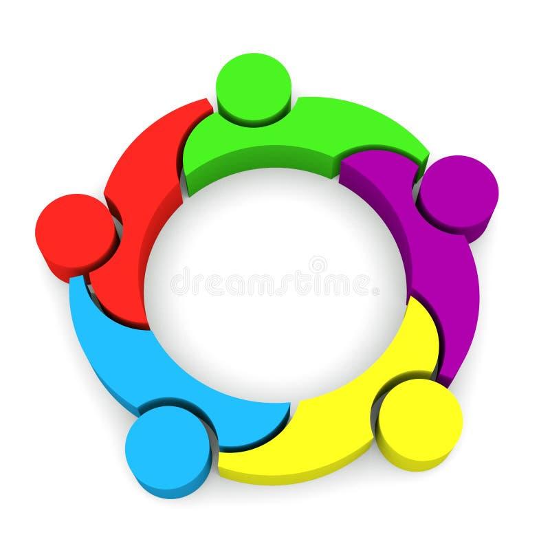 Download Team Family 3D fotografia stock. Immagine di umano, rete - 30828576