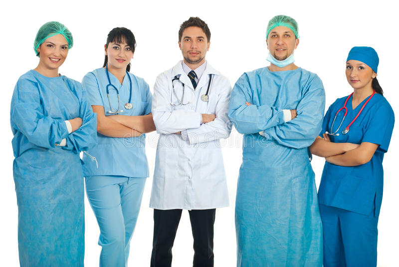 Download Team Of Five Doctors Stock Photography - Image: 17951372