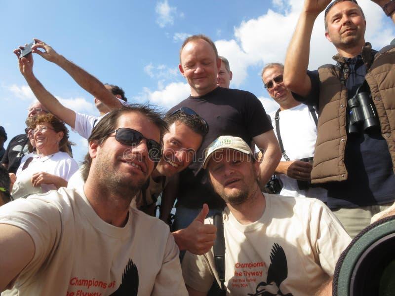 Team Focusing en los esprinteres de la fauna, campeones de la vía de migración, E-I foto de archivo libre de regalías