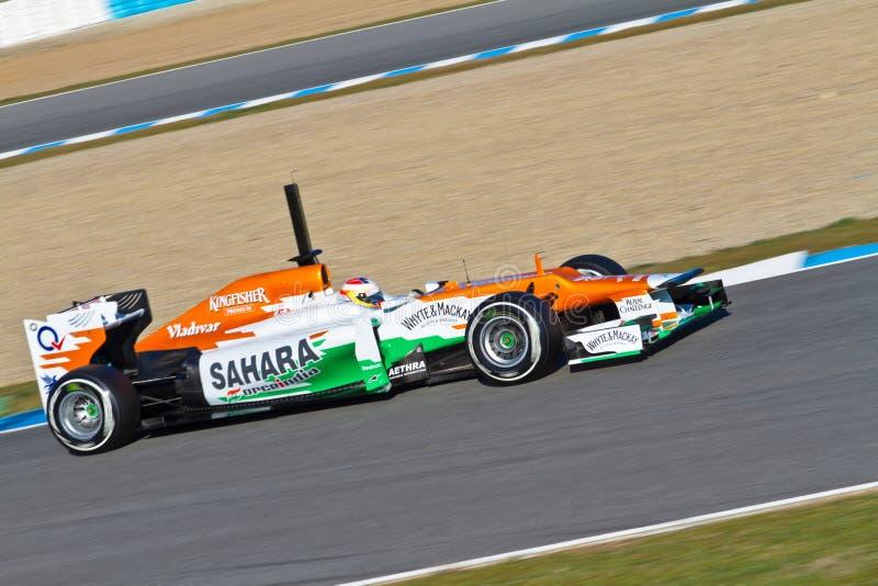 Team Force India F1, Paul Di Resta, 2012 Editorial Photography